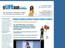 Life Size Custom Standups Home Page – 313 Web Studio