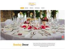 Bombay Decor Home Page - 313 Web Studio